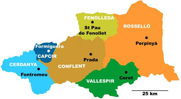 Mapa de la Catalunya Nord