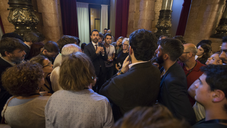 Roger Torrent al Parlament. Parlament de Catalunya